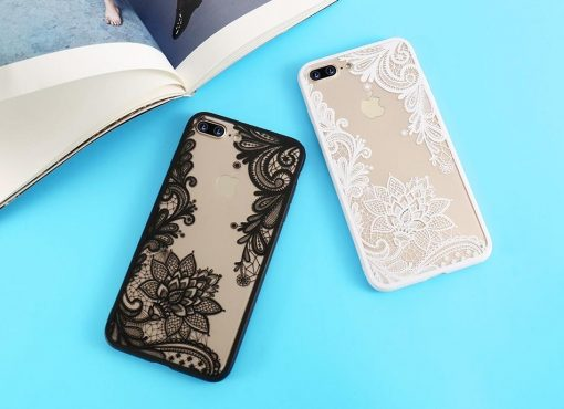 Sexy Fashion Floral Pink Black White Red Lace Soft Silicone Designer iPhone Case For iPhone X XS XS Max XR - Casememe