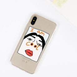 Funny Sexy Nose I am Cool Transparent iPhone Protective Case For iPhone SE 11 PRO MAX X  XS  XS Max XR - Casememe