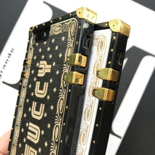 Guccy Vintage Trunk Box Fashion Silicone Designer iPhone Case For iPhone X XS XR XS Max - Casememe