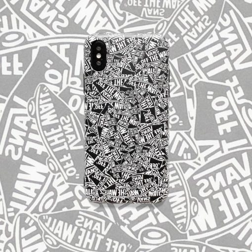 VANS Off The Wall Style Trendy Skateboard Soft Silicone Designer iPhone Case For iPhone X XS XS Max XR 7 8 Plus - Casememe
