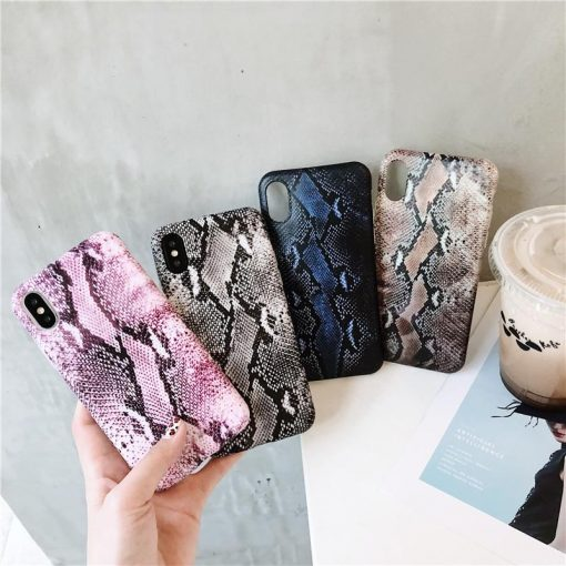 MORE SELECTIONS Luxury Vintage Snake Skin Leather Shockproof Airbag Designer iPhone Case  For iPhone SE 11 PRO MAX X  XS  XS Max XR - Casememe