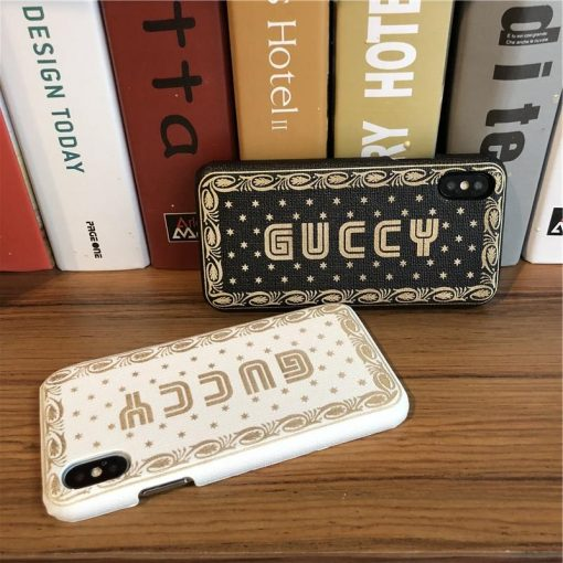 Luxury Guccy Style Soft Silicone Shockproof Designer iPhone Case For iPhone X XS XR XS Max - Casememe