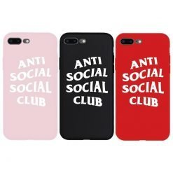 Street Fashion ASSC Anti Social Club Style Soft Silicone Luxury Designer iPhone Case For iPhone SE 11 PRO MAX X XS XS Max XR - Casememe