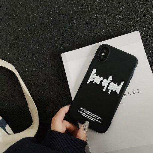 FEAR OF GOD Style Fashion Luxury Street Silicone TPU Designer iPhone Case For iPhone SE 11 PRO MAX X XS XS Max XR 7 8 Plus - Casememe