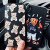 Moschino Style Cute Bear Matte Leather Luxury Designer iPhone Case For iPhone X XS XS Max XR - Casememe