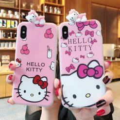 Hello Kitty Style Cute 3D Soft Silicone Designer iPhone Case For iPhone X XS XS Max XR 7 8 Plus - Casememe