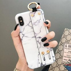 Modern Hand Strap Marble Painted Designer Bumper iPhone Case for iPhone SE 11 PRO MAX XS Max XR X 7 8 Plus - Casememe