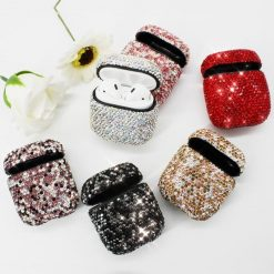 Glitter Luxury Diamond AirPods 100% Handmade Protective Shockproof Case Cove For Apple Airpods 1 & 2 - Casememe