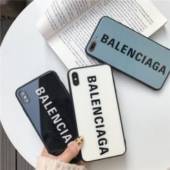 Best Stylish Balenciaga Paris Sports Tempered Glass Designer iPhone Case For iPhone 12 SE 11 Pro Max X XS Max XR 7 8 Plus - Casememe