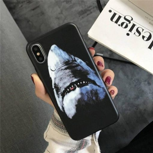 Givenchy Style Luxury Shark Bambi Dog Soft Silicone Designer iPhone Case For iPhone 12 SE 11 PRO MAX X XS XS Max XR 7 8 Plus - Casememe