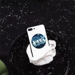 NASA Style America Space Astronaut Tempered Glass Shockproof Designer iPhone Case For iPhone X XS XR XS Max - Casememe