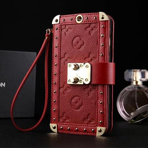Luxury LV Monogram Style PU Leather Wallet Shockproof Protective Designer iPhone Case For iPhone 12 SE 11 Pro Max X XS Max XR 7 8 Plus - Casememe