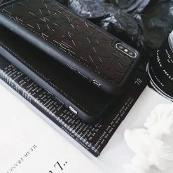 Luxury Givenchy Style Street Star Studs Black Leather Bumper Designer iPhone Case For iPhone SE 11 PRO MAX X XS XS Max XR - Casememe