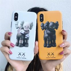 Trendy Street Fashion XX KAWS Matte Silicone Ultra Slim Designer iPhone Case For iPhone X XS XS Max XR - Casememe