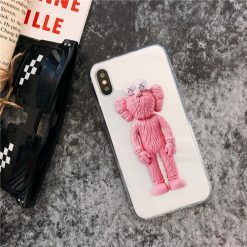 Trendy Street Fashion KAWS Sesame Street Soft Silicone TPU Transparent Clear Designer iPhone Case For iPhone X XS XS Max XR - Casememe