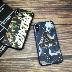 Palace Camouflage Street Fashion Matte Silicone Designer iPhone Case For iPhone X XS XS Max XR 7 8 Plus - Casememe