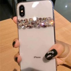 Luxury Shiny Bling Crystal Rhinestone Diamond Soft Silicone Transparent Clear Designer iPhone Case For iPhone X XS XR XS Max - Casememe