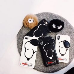 Snoopy 3D Cute Cartoon Moving Ear Leather Designer iPhone Case For iPhone X XS XS Max XR 7 8 Plus - Casememe
