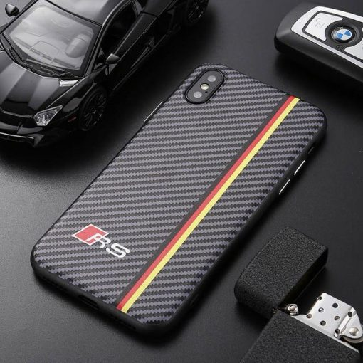 Sports Car AMG RS BMW M Series Carbon Fiber Case For iPhone 12 SE 11 PRO MAX X XS XS Max XR 7 8 Plus - Casememe