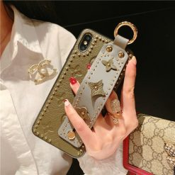 Luxury Style Paris Leather Kickstand Ring Holder Shockproof Protective Designer iPhone 12 Case For iPhone SE 11 Pro Max X XS Max XR 7 8 Plus - Casememe