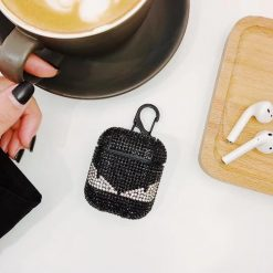 Luxury Fendi Style Diamond Bling Hard Protective Shockproof Case For Apple Airpods 1 & 2 - Casememe