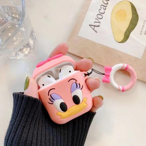Disney Style Donald Daisy Duck Silicone Protective Shockproof Case For Apple Airpods 1 & 2 - Casememe