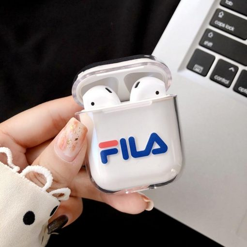 FILA Style Dickies Sports Clear Hard Protective Shockproof Case For Apple Airpods 1 & 2 - Casememe