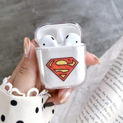 Superhero Marvel Style Ironman Spiderman Clear Hard Protective Shockproof Case For Apple Airpods 1 & 2 - Casememe