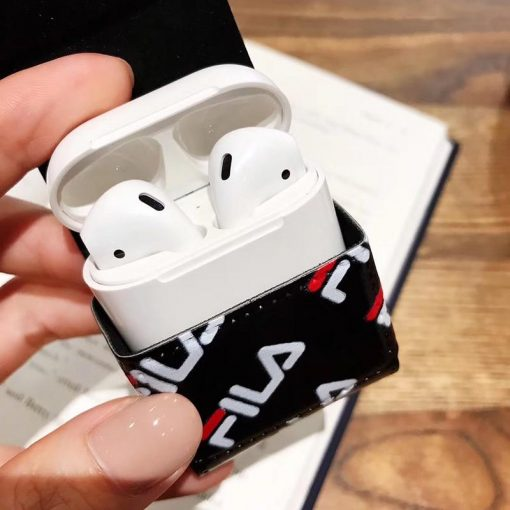 FILA Sports Leather Lanyard Protective Shockproof Case For Apple Airpods 1 & 2 - Casememe