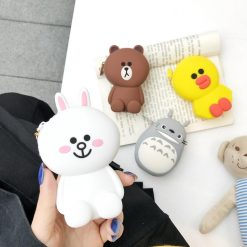 LINE Friends Bear Rabbit Totoro Silicone Protective Shockproof Case For Apple Airpods 1 & 2 - Casememe