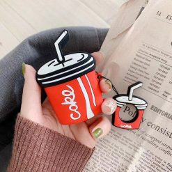 3D Cute Coke Cola Summer Silicone Protective Shockproof Case For Apple Airpods 1 & 2 - Casememe