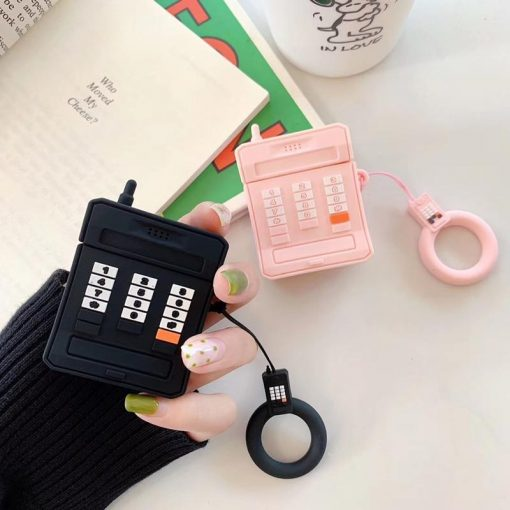 Cute Vintage Cellphone Retro Silicone Protective Shockproof Case For Apple Airpods 1 & 2 - Casememe