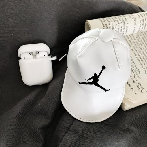 Air Jordan Style Sports Hat Coin Bag Silicone Protective Shockproof Case For Apple Airpods 1 & 2 - Casememe