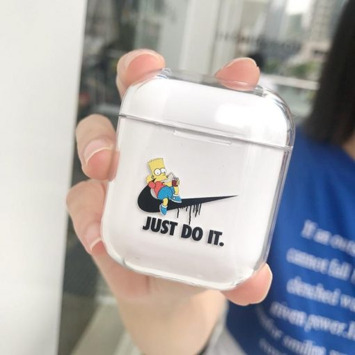 Nike x Simpsons Style Vans Clear Transparent Hard Protective Shockproof Case For Apple Airpods 1 & 2 - Casememe