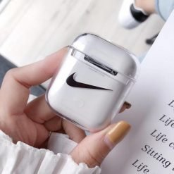 Nike Style Louboutin AMG Clear Hard Protective Shockproof Case For Apple Airpods 1 & 2 - Casememe
