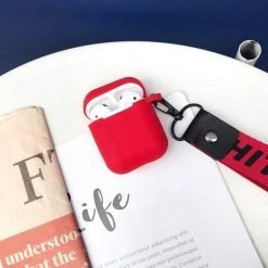 Off White OW Street Fashion Trendy Lanyard Silicone Protective Shockproof Case For Apple Airpods 1 & 2 - Casememe